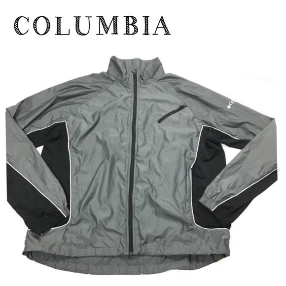 Columbia Lightweight Jacket Windbreaker Gray